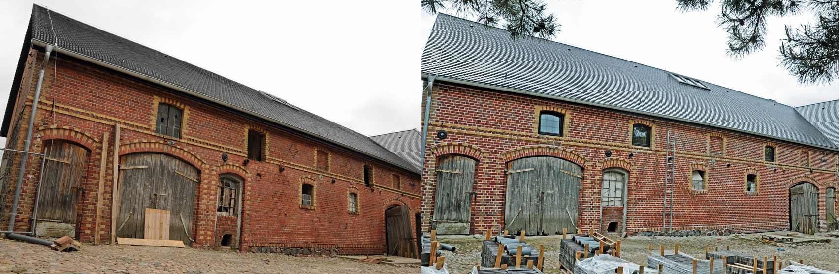 Stajnia z 1805 r. – przed i po renowacji